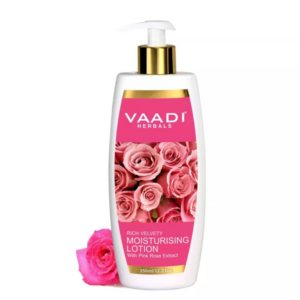 Vaadi Herbals Rich Velvety Moisturising Lotion with Pink Rose Extract