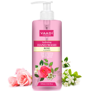 Vaadi Herbals Hydrating Hand Wash with Natural Rose and Jasmine Extract – 250ml