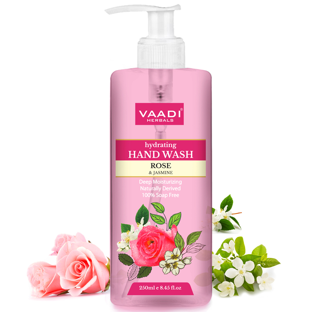 Vaadi Herbals Hydrating Hand Wash with Rose and Jasmine Extract
