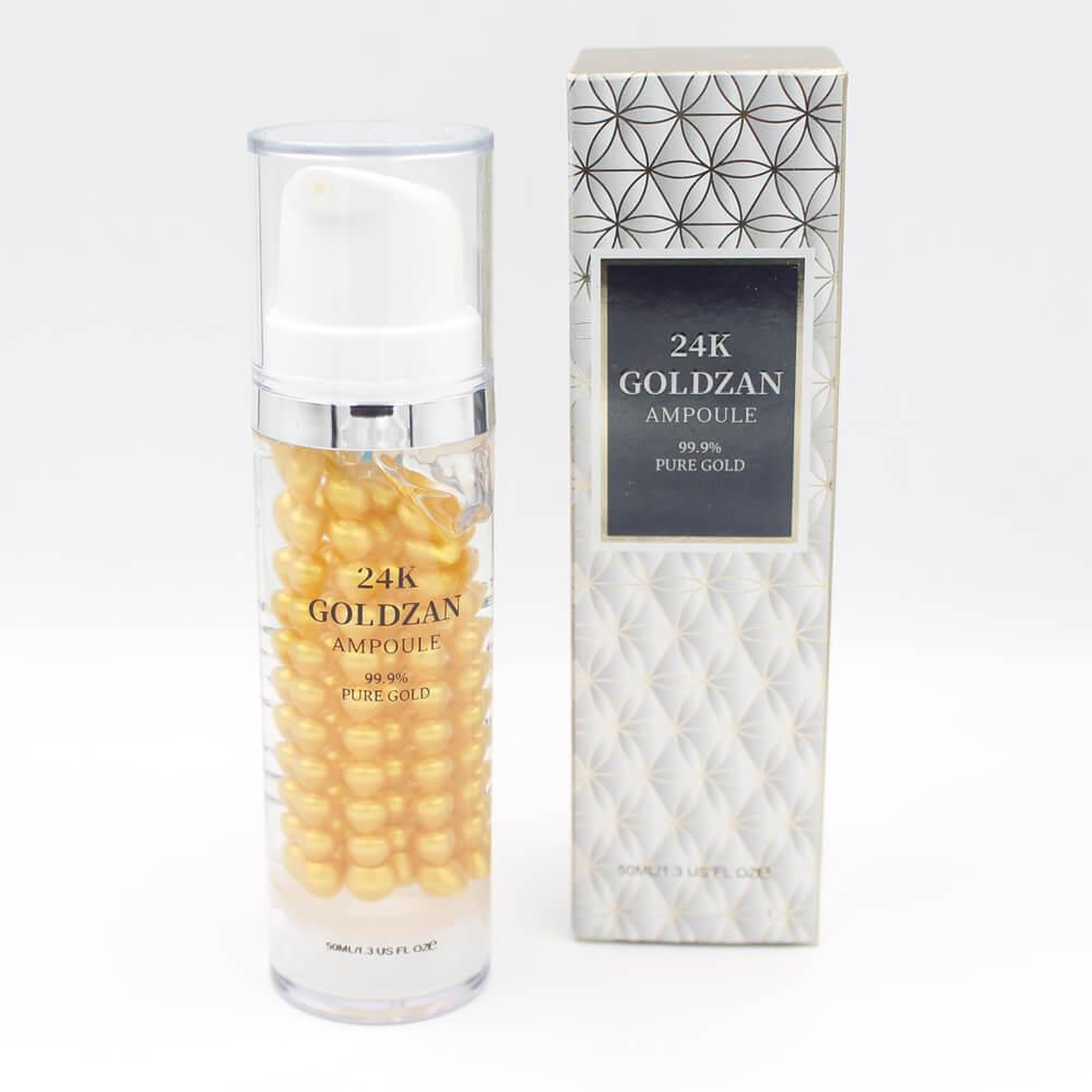 24k Goldzan Ampoule 99.9% Pure Gold Crystal Whitening Essenc...