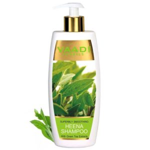 Vaadi Herbals Superbly Smoothing Heena Shampoo with Green Tea Extracts – 350ml
