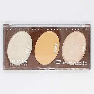 Meis Professional Highlighter Contour And Bronze Palette No 1