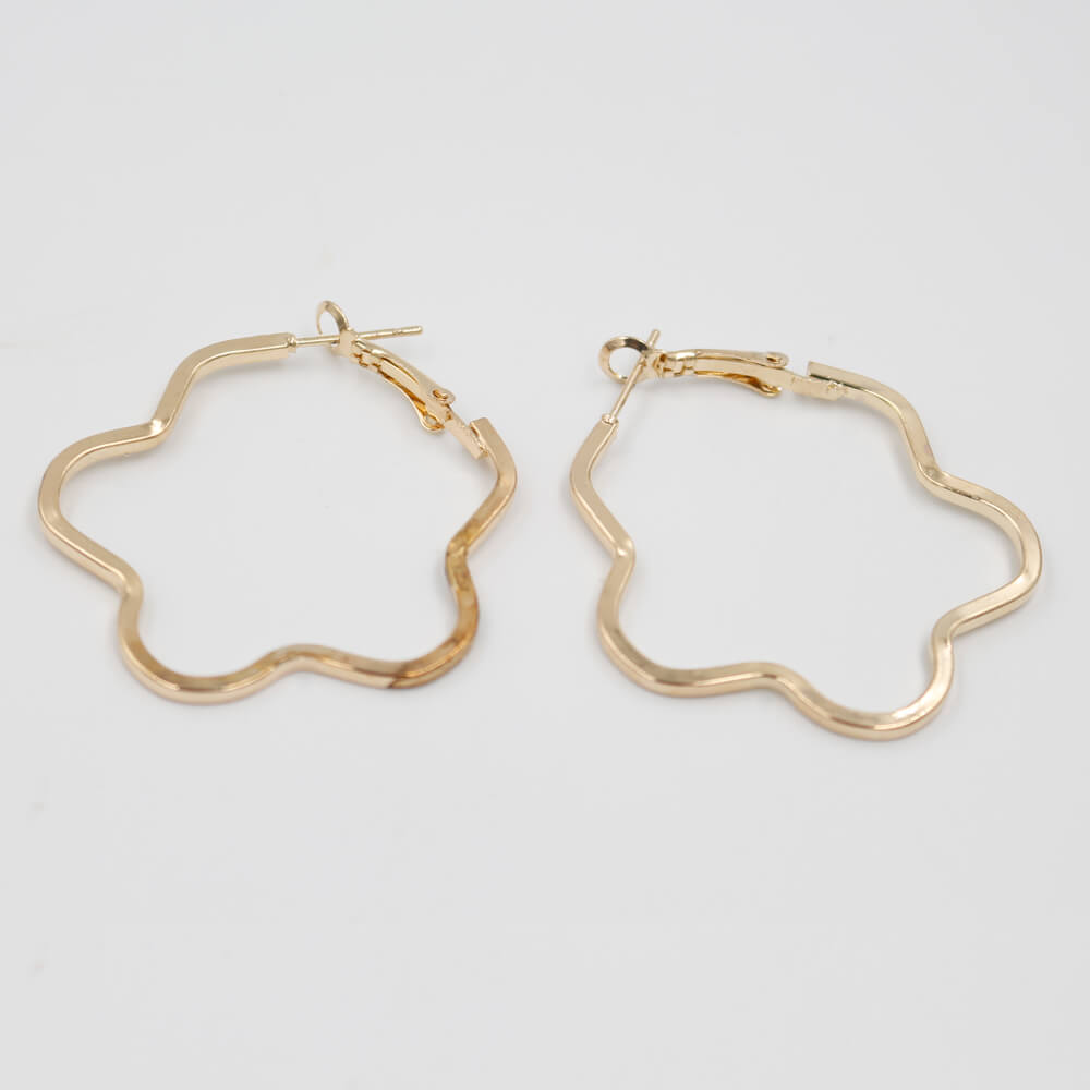 Star Shaped Hoop Earring Fashion Jewellery Golden Color