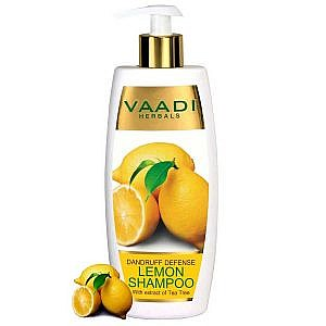 Vaadi Herbal Anti Dandruff Lemon Shampoo With Extract of Tea Tree - 350 ml