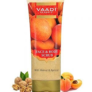 Vaadi Herbals Face and Body Scrub with Walnut and Apricot &#...