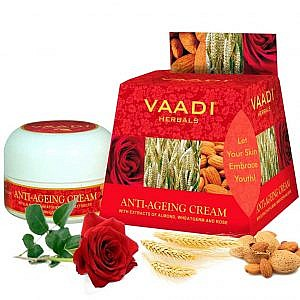Vaadi Herbals Anti-Aging Cream – Almond, Wheatgerm Oil...