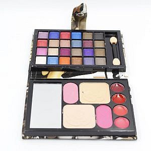 Miss Ayesha Professional Purse Makeup Kit With Eye Shadow Lipstick Blusher Pressed Powder