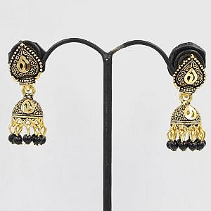Colorful Small Bell Style Fashionable Jhumka Earrings For Wo...