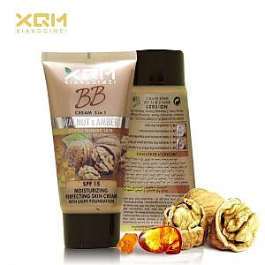 XQM Bb Cream 5 In 1 Walnut And Amber Gently Tanning Skin Moisturizing Perfecting Skin Cream With Light Foundation Spf 15