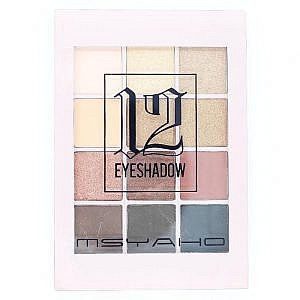 Msyaho 12 Color Eyeshadow Palette No 1