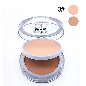 Sheloves Pressed Powder Double Layers Nude Flawless Face Mak...