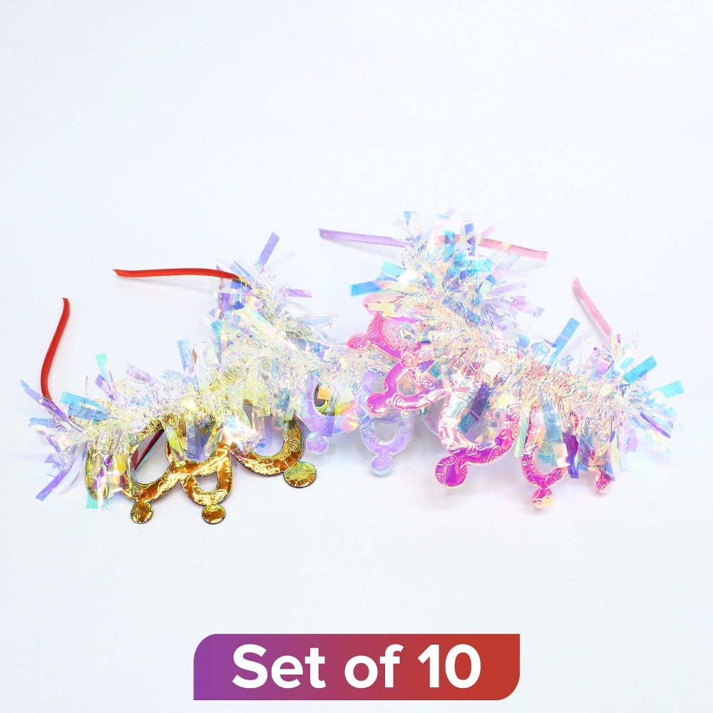 Multicolor Tassel Design Headband - Set of 10