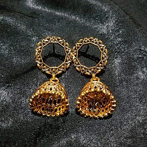 Yellow Golden Bell earring