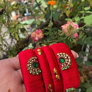 Red Bangles Set for Women