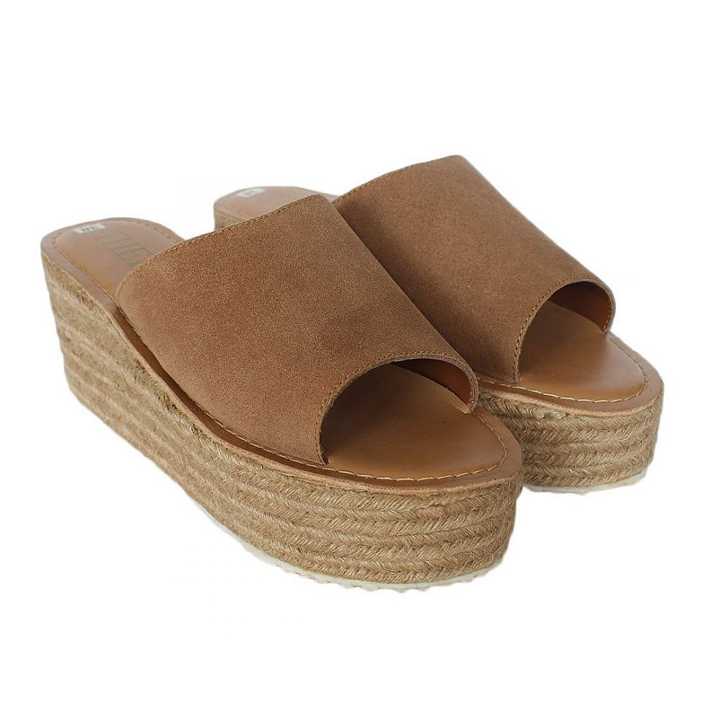 Theea Wedge Heel Tan Sandal for Women