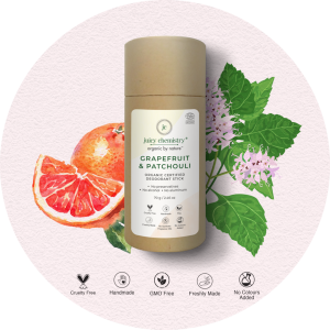 Juicy Chemistry Grapefruit & Patchouli Deodorant Stick – 70 gm
