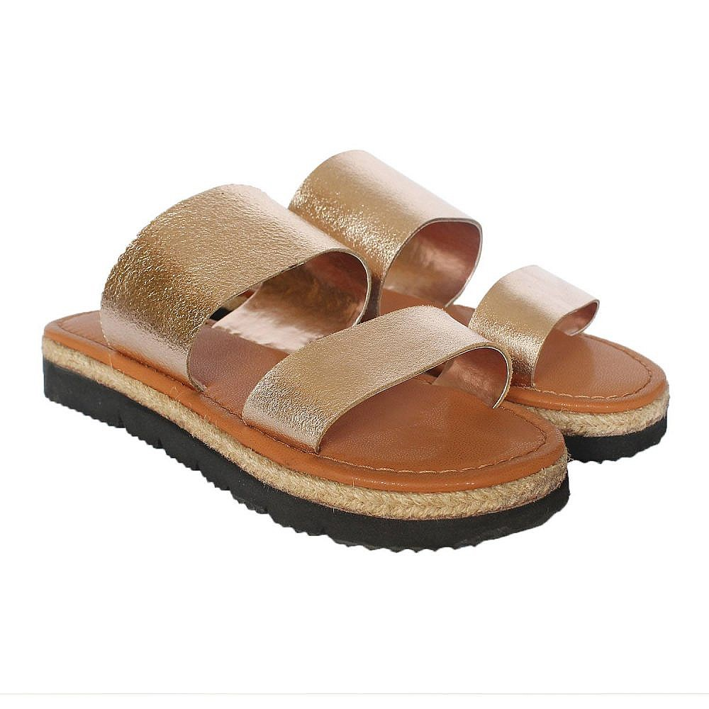 Theea Double Strap Rose Gold Sandal for Women