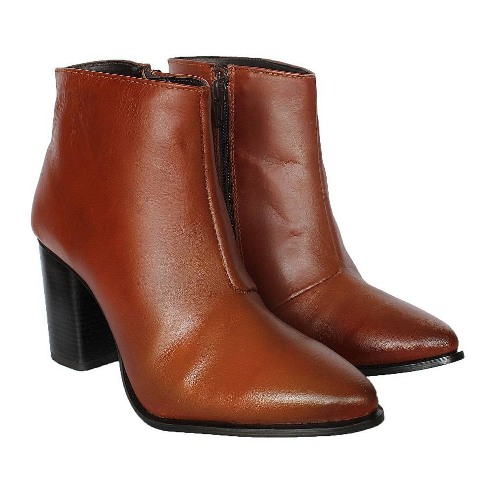 Theea New Stud Tan Suede Boots