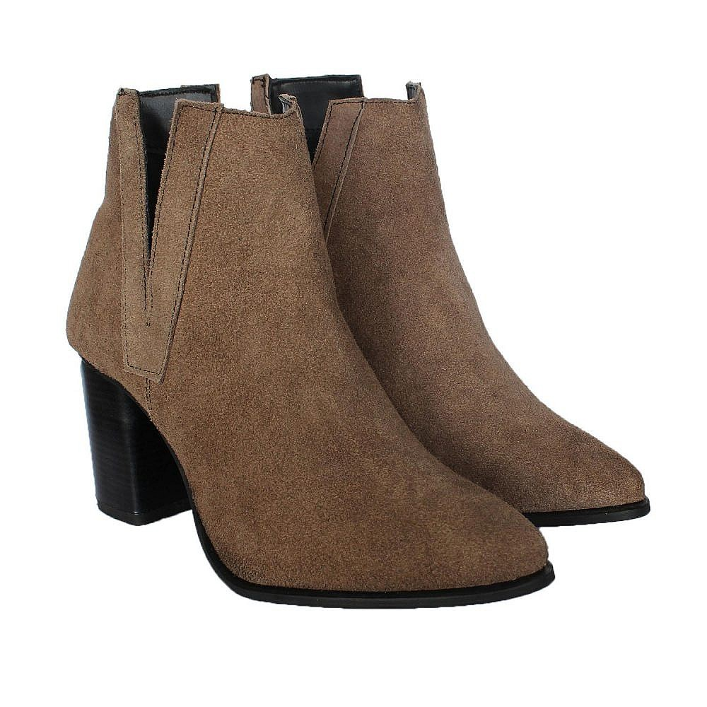 Theea V Cut Sand Suede Women Boots