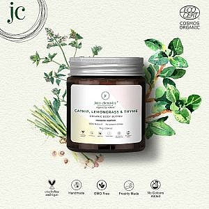 Juicy Chemistry Body Butter and Mosquito Repellent with Catnip, Lemongrass and Thyme – 75 gm