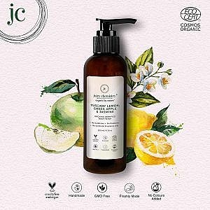Juicy Chemistry Body Wash For Dry Skin with Tuscany Lemon, Green Apple & Jasmine Lemon – 200 ml