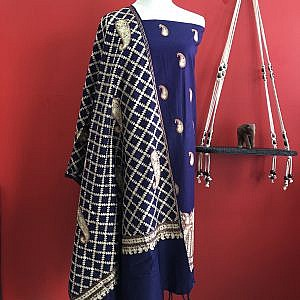Woolen Kurtha Surwal with Woolen Shawl