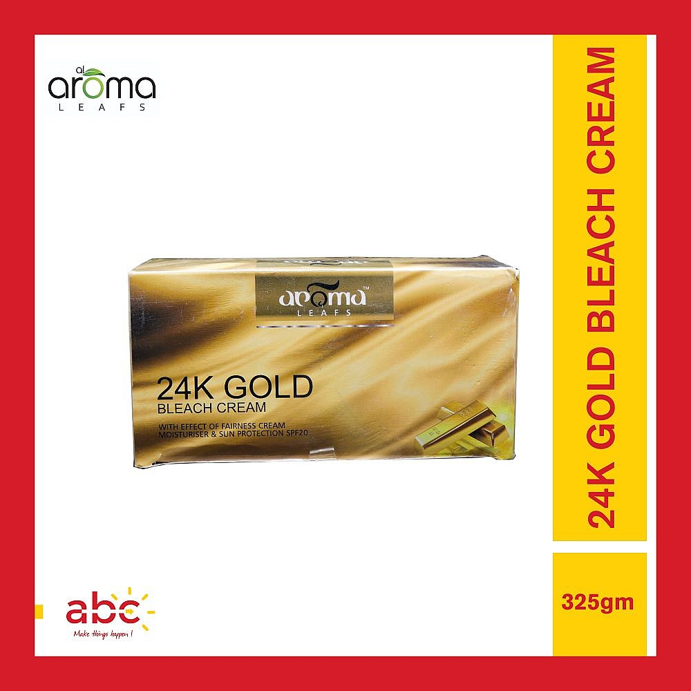 Aroma Leafs 24K Gold Bleach Cream With Effect of Fairness Cream - 325gm