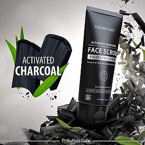 Pollution Safe Activated Charcoal Face Scrub – 100gm