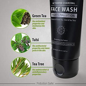 Pollution Safe Activated Charcoal Face Wash
