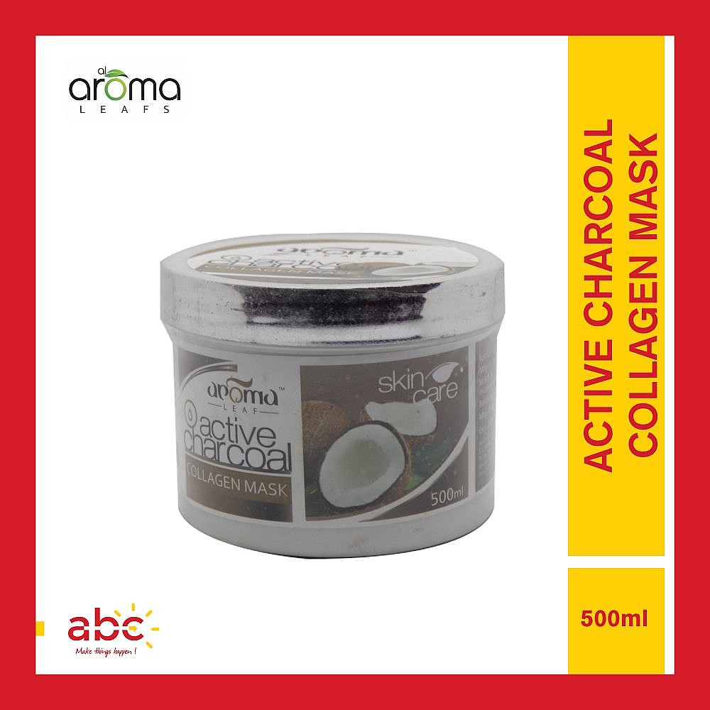 Aroma Leafs Active Charcoal Collagen Mask - 500ml