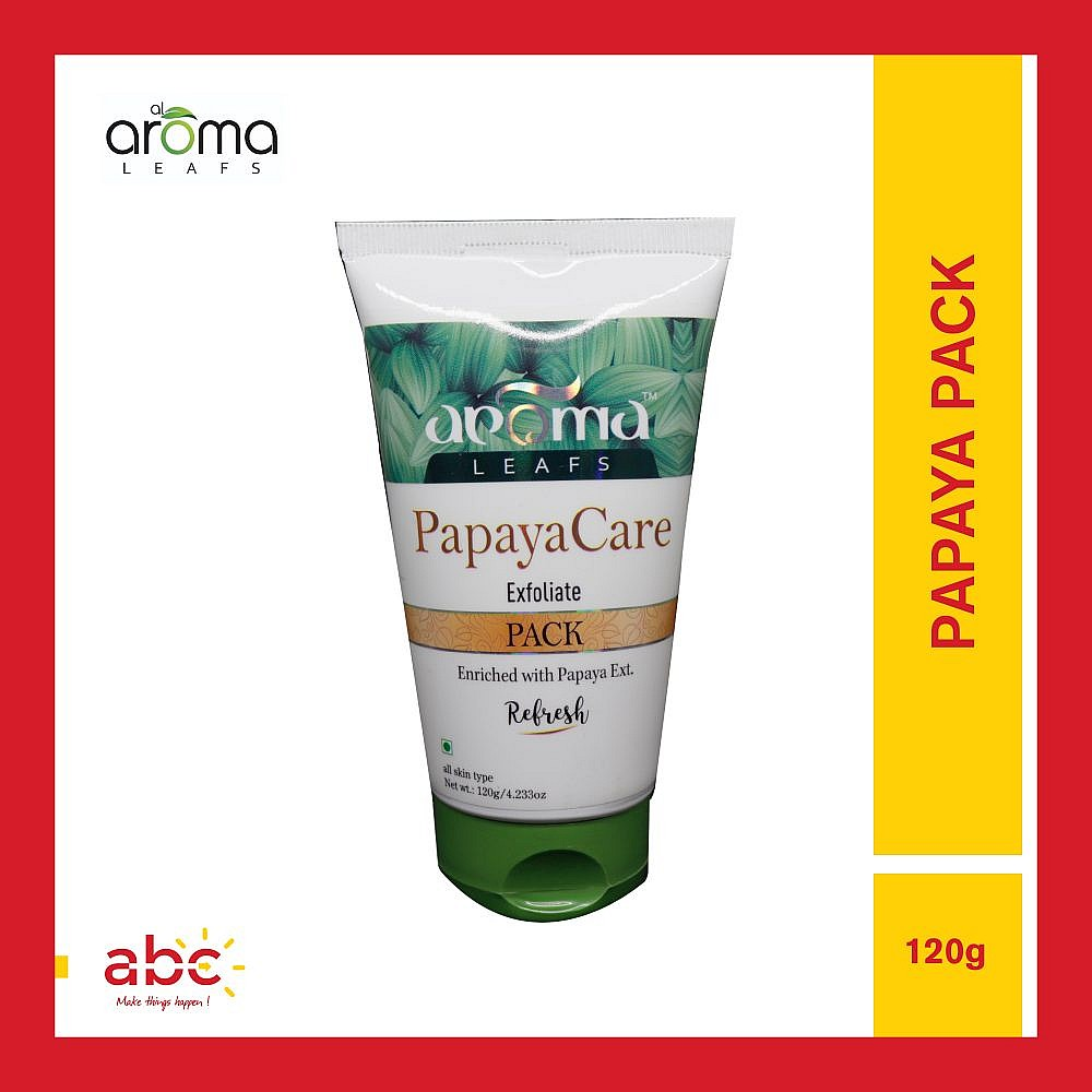 Aroma Leafs Papaya Care Exfoliate Pack Enriched with Papaya Ext - 120gm
