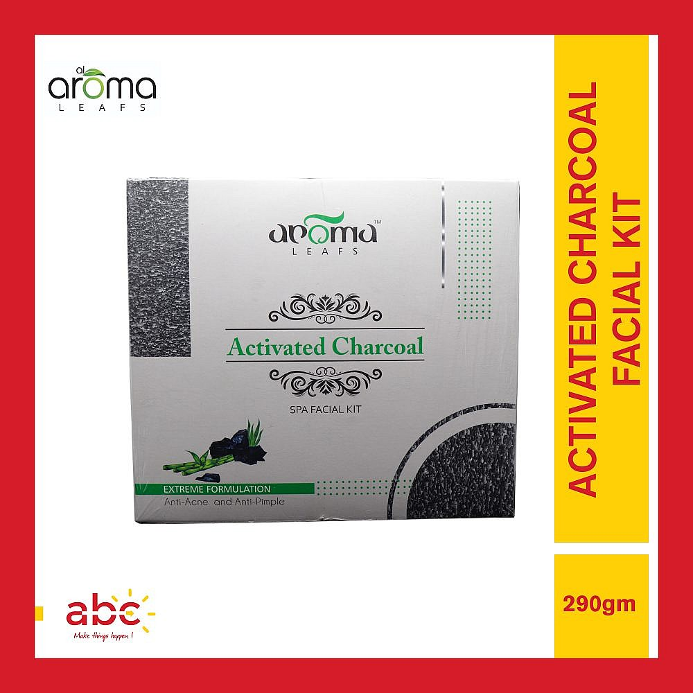Aroma Leafs Activated Charcoal Spa Facial Kit - 290gm