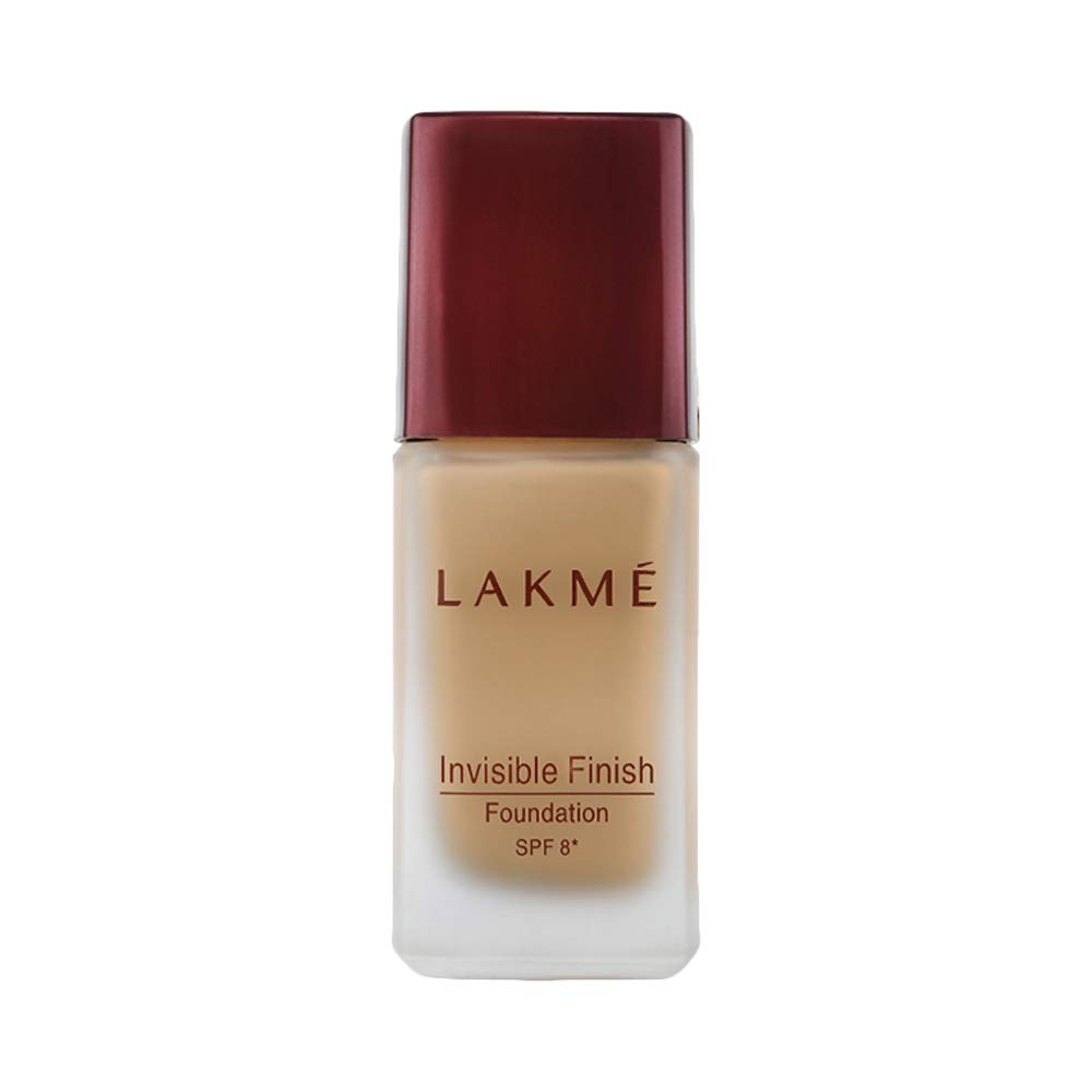 Lakme Invisible Finish SPF 8 Foundation, Shade 02, Liquid Foundation For Natural Glow  25 ml