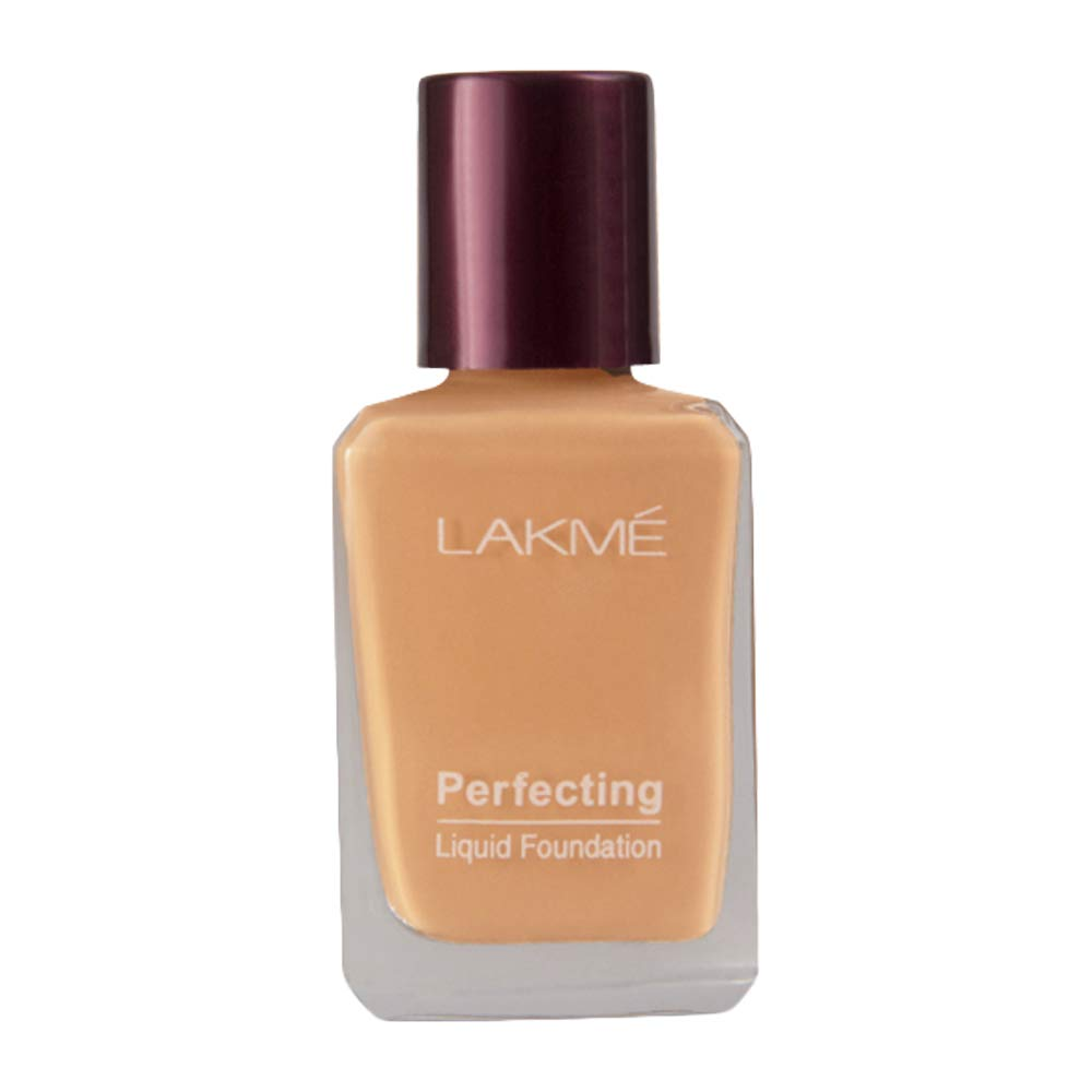 Lakme Perfecting Liquid Foundation, Coral, Waterproof, Full Coverage, Lightweight Foundation For Oil Free And Dewy Skin| 27 ml