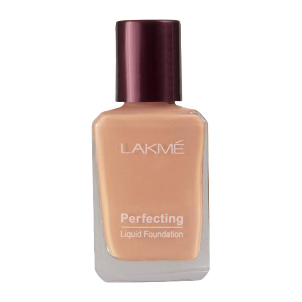 Lakmé Perfecting Liquid Foundation, Marble, Waterproof, Full Coverage, Lightweight Foundation For Oil Free And Dewy Skin| 27 ml