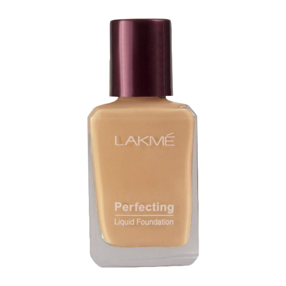 Lakmé Perfecting Liquid Foundation, Pearl, Full Coverage, Lightweight Foundation For Oil Free And Dewy Skin, 27 ml