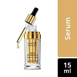 Lakme Absolute Argan Oil Radiance Overnight Oil-in-Serum With Moroccan Argan Oil |15 ml