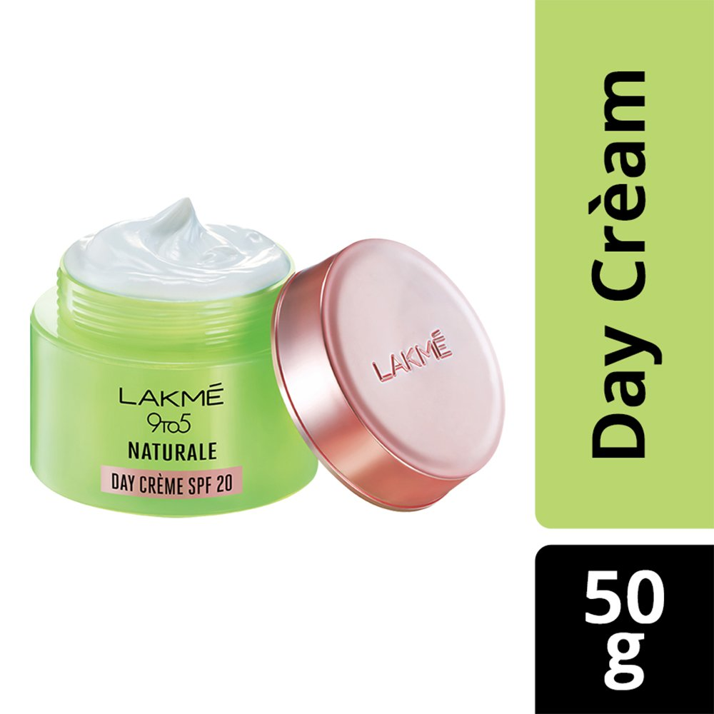 Lakmé 9 To 5 Naturale Day Creme SPF 20 With Pure Aloe Vera, 50g